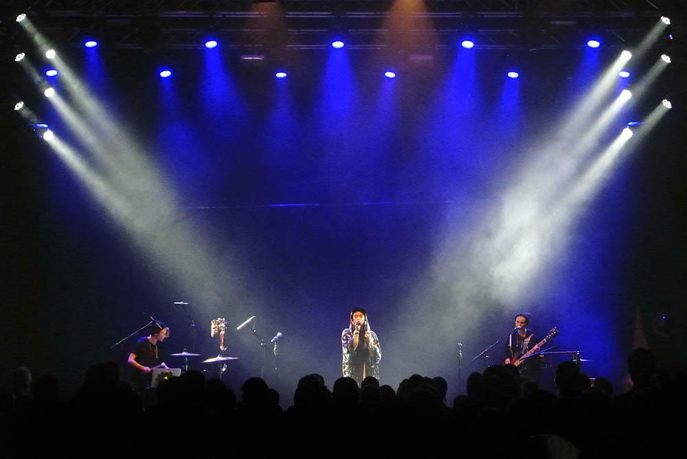 Maxida Märak i Värmekyrkan på Where's the music 2016 / FOTO: NIKLAS LUKS